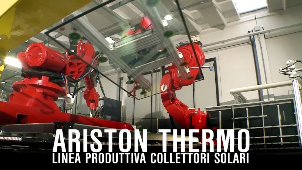 ariston thermo linea produttiva collettori solari