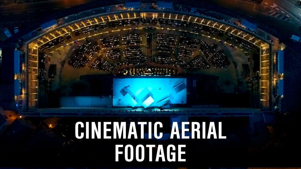 cinematic aerial footage